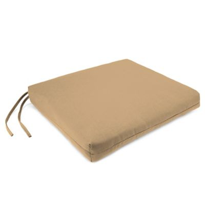 Sunbrella® French Edge Chair Cushions in Canvas Camel (Set of 2)
