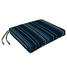 Sunbrella® French Edge Chair Cushions in Stanton Lagoon (Set of 2)