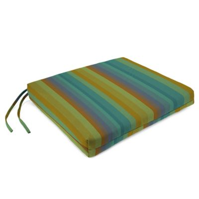 Sunbrella® French Edge Chair Cushions in Astoria Lagoon (Set of 2)