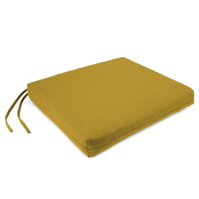 Sunbrella® French Edge Chair Cushions in Canvas Maize (Set of 2)