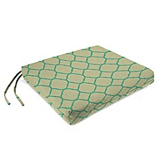 Sunbrella® French Edge Chair Cushions in Accord Jade (Set of 2)
