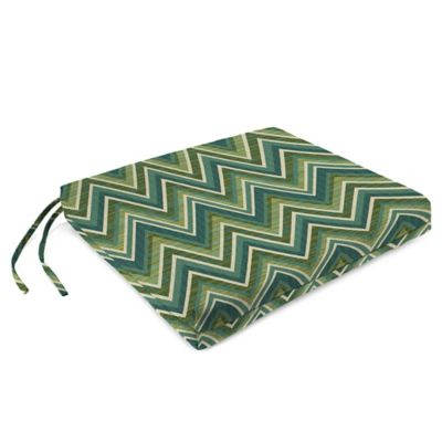 French Edge Chair Cushions in Sunbrella® Fischer Lagoon (Set of 2)