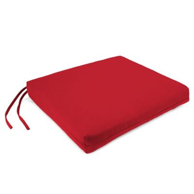 Sunbrella® French Edge Chair Cushions in Jockey Red (Set of 2)