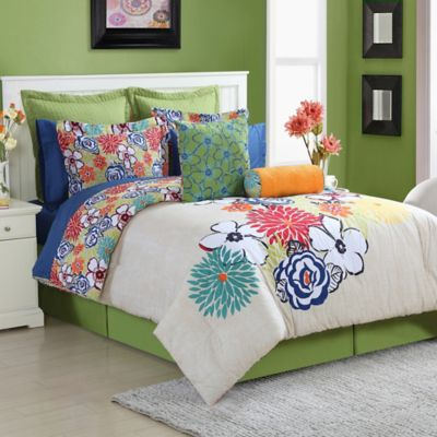 Fiesta® Lucia Reversible Queen Comforter Set