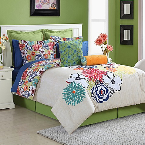 buy fiesta lucia reversible twin comforter set from bed