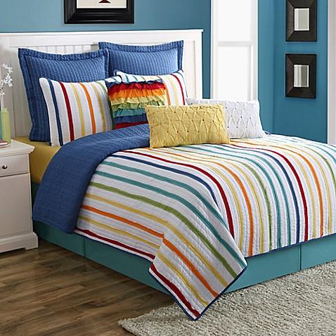 Fiesta 174 Baja Stripe Reversible Quilt Set Www