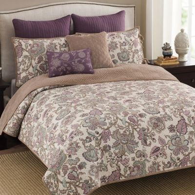 Shelby Reversible Full/Queen Quilt in Plum
