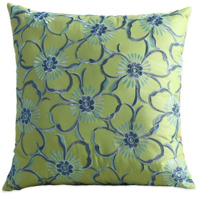 Fiesta® Lucia Reversible Square Throw Pillow in Lime Green
