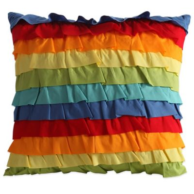 Fiesta® Baja Ruffled Square Throw Pillow in Multi