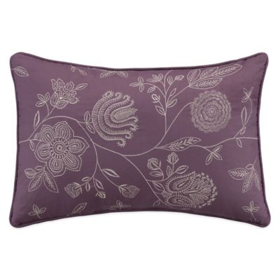 Shelby Oblong Throw Pillow in Plum