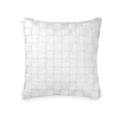 Real Simple® Lattice Square Throw Pillow in White