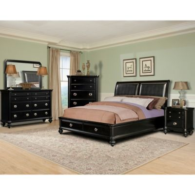 Klaussner Danbury 5-Piece Queen Bedroom Set in Black