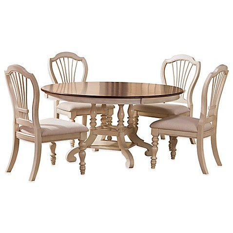 Buy Hillsdale Pine Island 5 Piece Round Dining Set With Wheat Back Chairs In