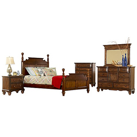 buy hillsdale pine island 5 piece king post bedroom set in dark pine