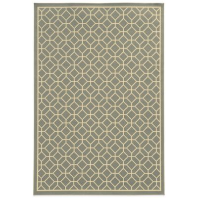 Oriental Weavers Riviera Honeycomb 5-Foot 3-Inch x 7-Foot 6-Inch Indoor/Outdoor Rug in Gold