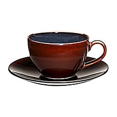 Mikasa® Sedona Cup & Saucer in Brown/Blue