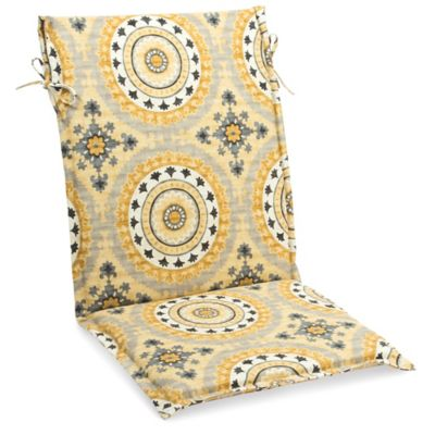 Outdoor Sling Cushion with Ties in Sunset Yellow