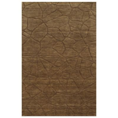 2-Foot 6-Inch Brown Area Rug