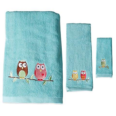 Buy Owl Fingertip Towel From Bed Bath Beyond