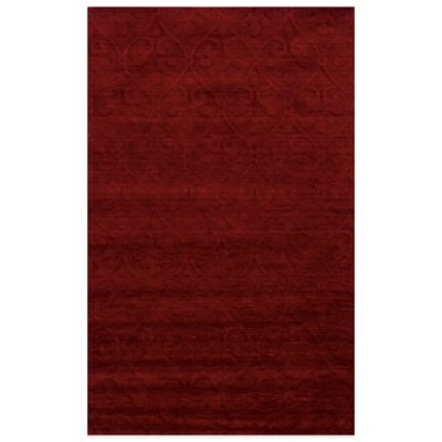 Rizzy Home Technique Scroll 5-Foot x 8-Foot Area Rug in Red