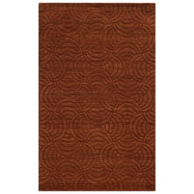 Rizzy Home Technique Swirl 8-Foot x 10-Foot Area Rug in Rust