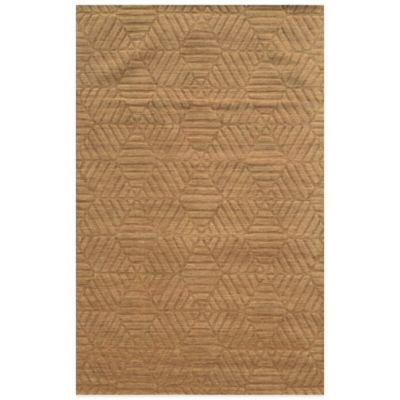 Rizzy Home Technique Diamonds 5-Foot x 8-Foot Area Rug in Gold