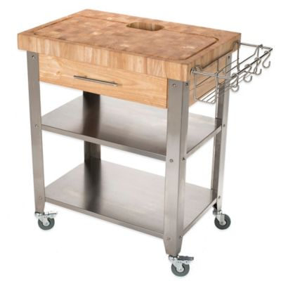 Chris & Chris Stadium 20-Inch x 30-Inch Kitchen Island Work Station in Natural