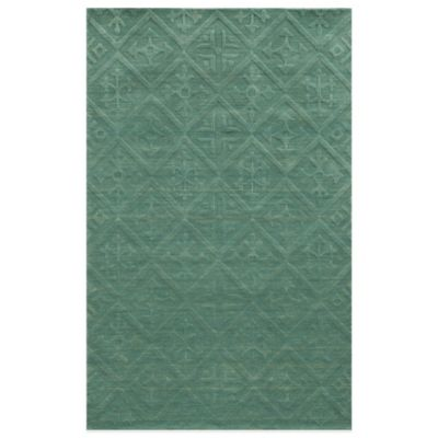 Rizzy Home Technique Teal 5-Foot x 8-Foot Area Rug in Blue