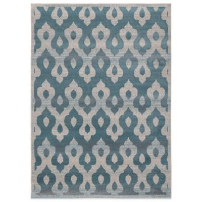 Hamilton Heat Set Box 5-Foot 3-Inch x 7-Foot 2-Inch Area Rug in Turquoise