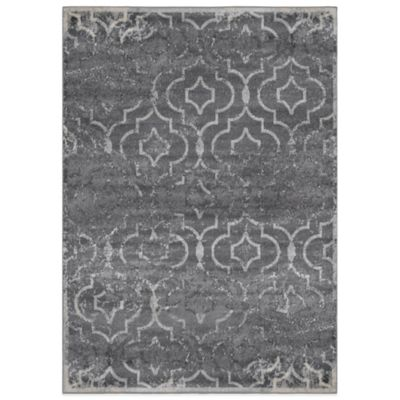 Hamilton Heat Set Box 5-Foot 3-Inch x 7-Foot 2-Inch Area Rug in Grey