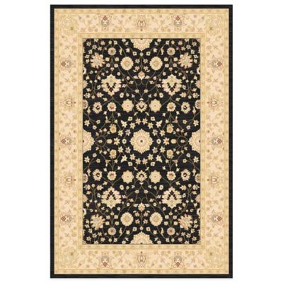 Antiqua Heat Set 5-Foot 3-Inch x 7-Foot 2-Inch Area Rug in Black/Cream