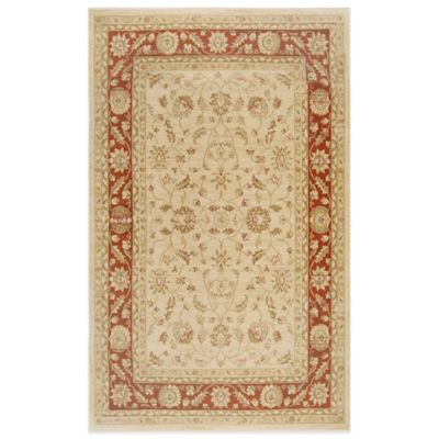 Antiqua Heat Set 5-Foot 3-Inch x 7-Foot 2-Inch Area Rug in Cream/Red