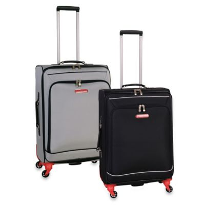 Swiss Cargo Petra 24-Inch Upright Spinner Luggage in Silver
