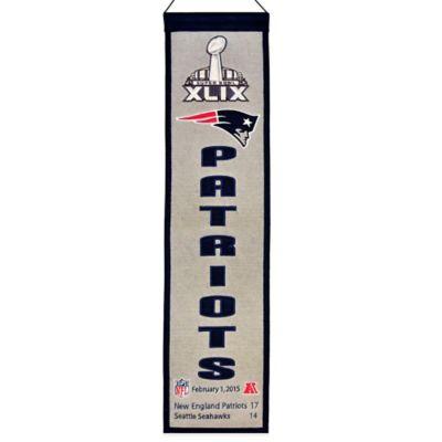 NFL New England Patriots Super Bowl XLIX Champions Banner
