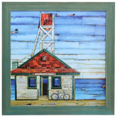 """No Cantina Canada"" Coastal Wooden Framed Art"