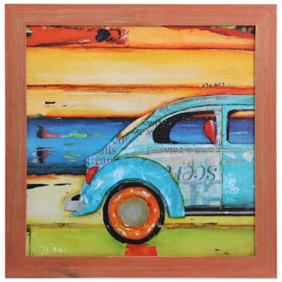 """Just Roll With It"" Coastal Wooden Framed Art"