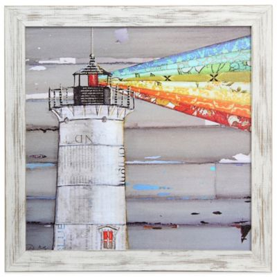"""There is A Light That Never Goes Out"" Coastal Wooden Framed Art"