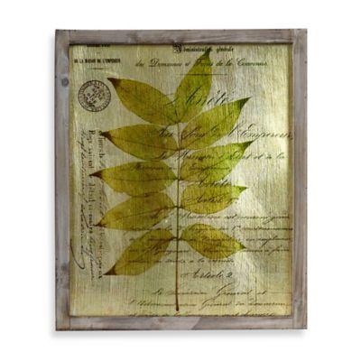 Leaf Foil Mirror Frame