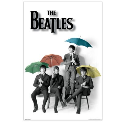 The Beatles™ Umbrellas Tempered Glass Art Panel
