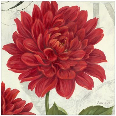 Etude en Rouge Dahlia Canvas Wall Art