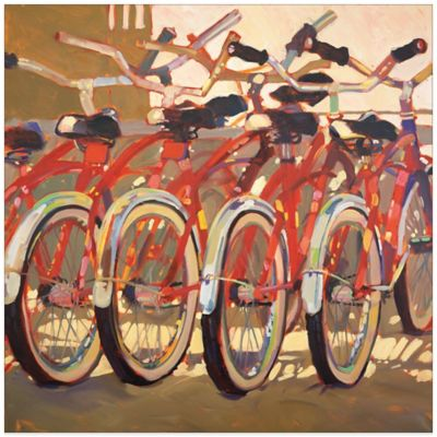 Retro Bikes Canvas Wall Art