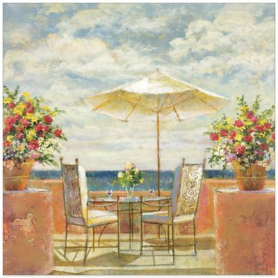 Umbrella Patio Canvas Wall Art