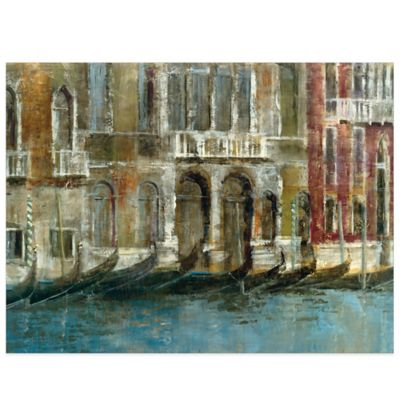Canal Facades Canvas Wall Art