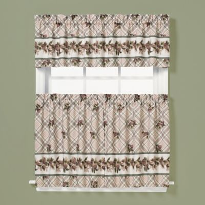 Pinecone 13-Inch Window Curtain Valance in Plaid