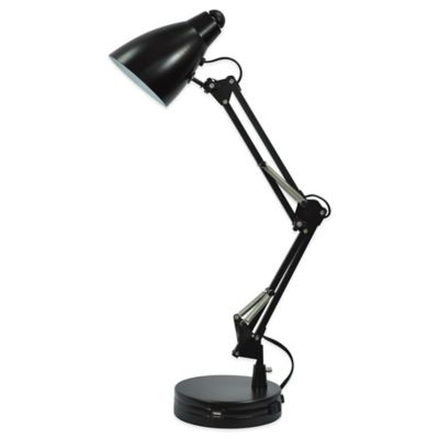 Equip Your Space Architect Desk Lamp with CFL Bulb in Black