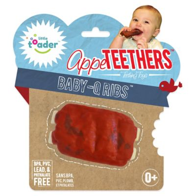 Little Toader™ AppeTEETHERS™ Baby-Q Ribs™ Teething Toy