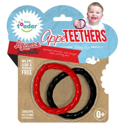 Little Toader™ AppeTEETHERS™ Liquorice Bracelets™ Teething Toys (Set of 2)