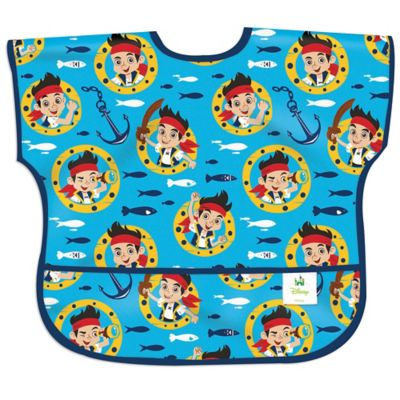 Bumkins® Disney® Jake and the Never Land Pirates Junior Bib in Blue