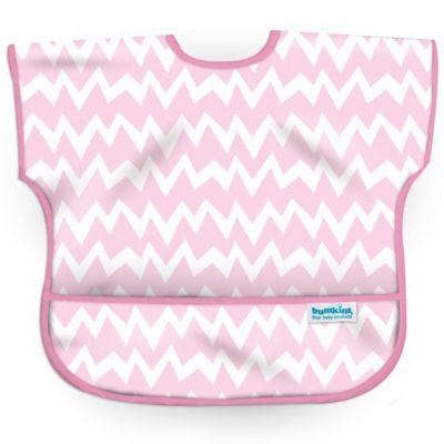 Bumkins® Chevron Junior Bib in Pink/White