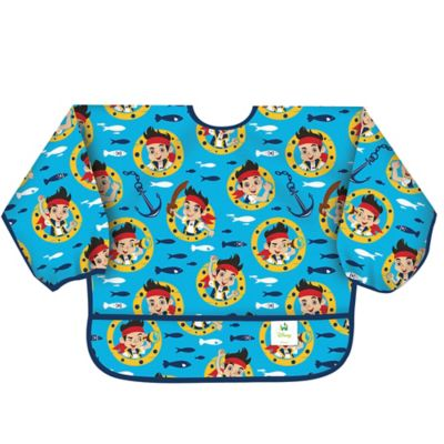 Bumkins® Disney® Jake and the Never Land Pirates Long Sleeved Bib in Blue